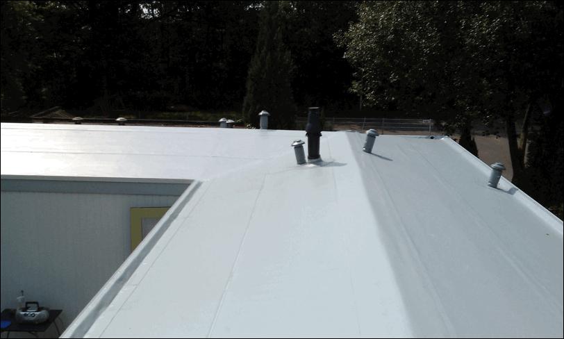 Nieuwe pvc dakbedekking